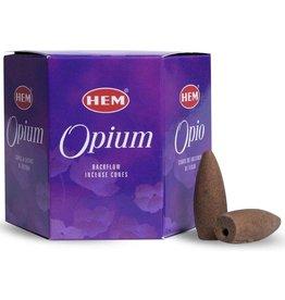 HEM Backflow wierookkegels Hem - opium (40 stuks)