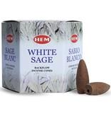 HEM Backflow wierookkegels Hem - white sage