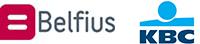 Belfius en KBC logo