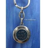 Christoffel sleutelhanger blauw/zilver