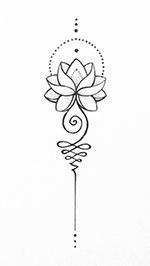 Lotus met unalome