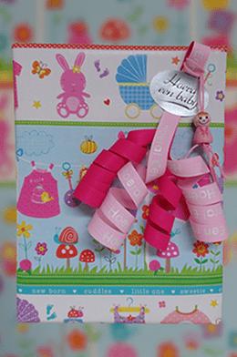 Inpakpapier baby meisje