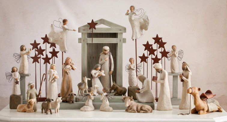 Willow Tree Willow Tree Kerststal met ster (Creche)