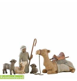 Willow Tree Herder met dieren van de kerststal