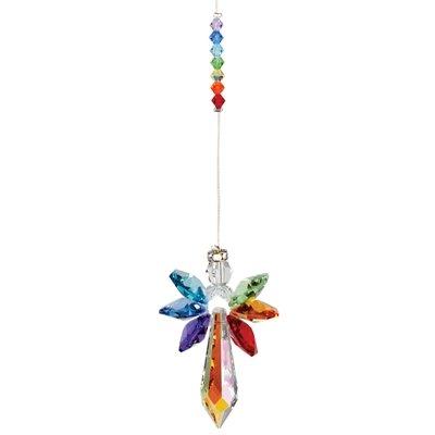 Suncatcher stralende engel van Swarovski kristal (regenboog)