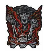 Badgeboy Soldier red  flames
