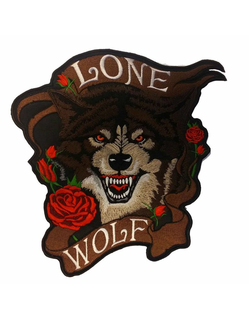 badgeboy Lone wolf with roses