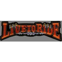 Live to Ride banner claw orange
