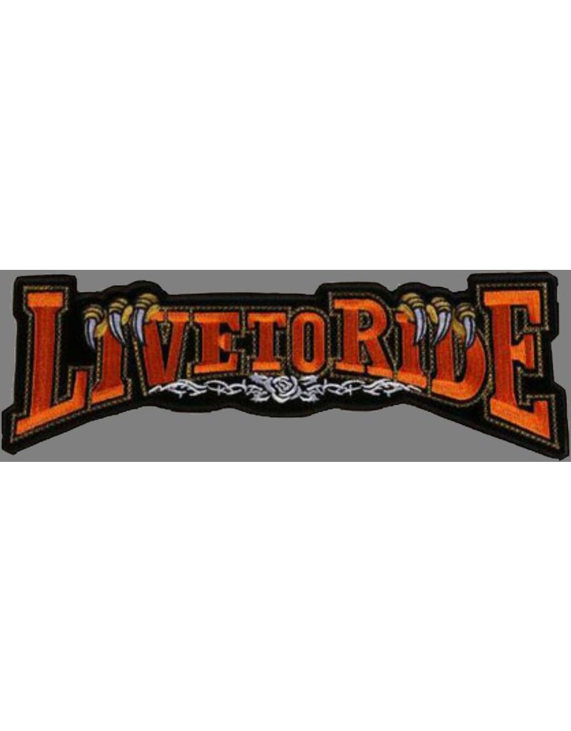 Live to Ride banner claw