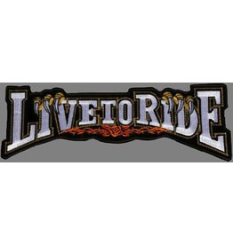 Live to Ride banner claw silver