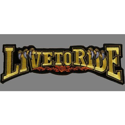 Live to Ride banner claw gold