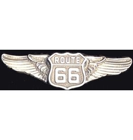 Route 66 pin winged