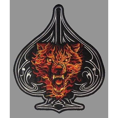 Badgeboy Wolf patch spade of aces