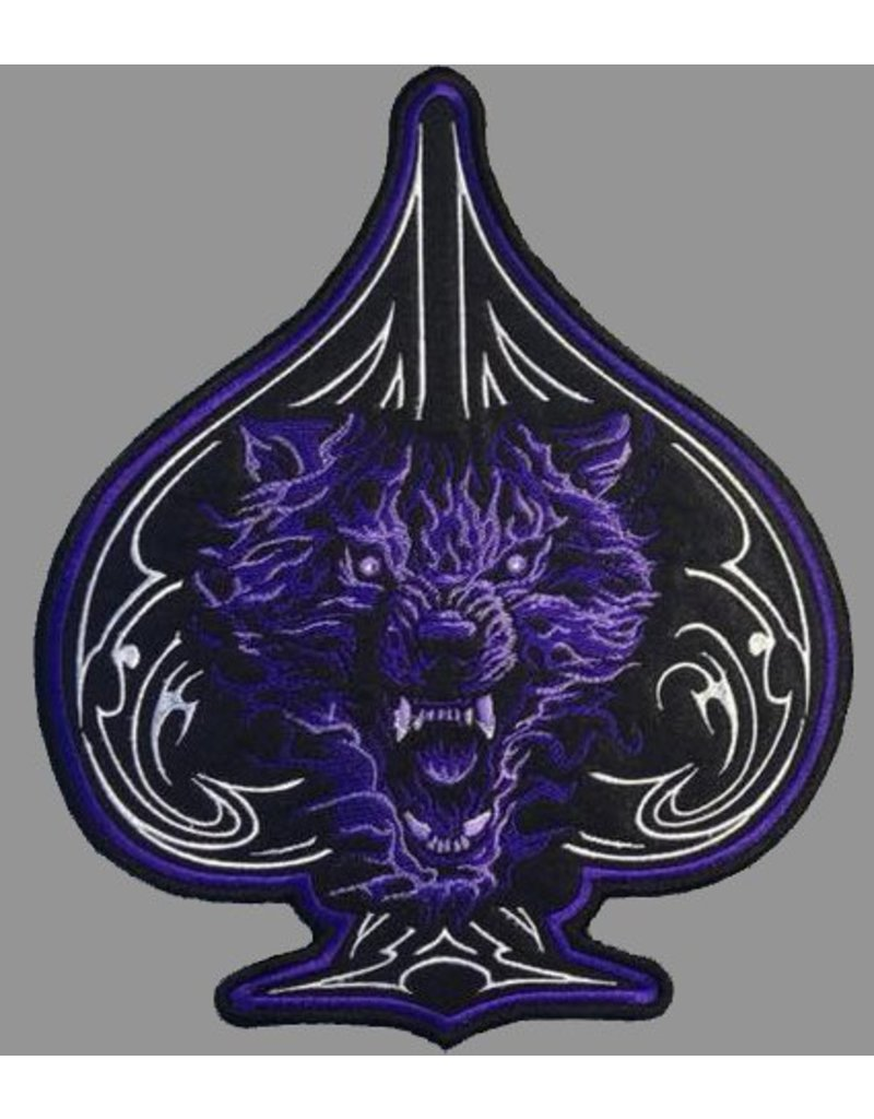 Badgeboy Wolf of spade blue patch