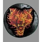 Badgeboy Flaming wolf round