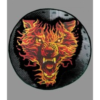 Badgeboy Flaming wolf round