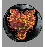 Badgeboy Flaming wolf round 30 cm round