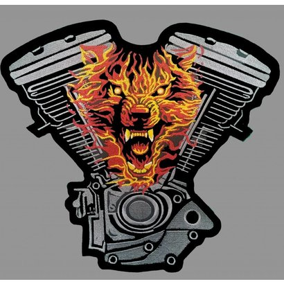 Badgeboy Engine and Wolf Orange 25 cm high