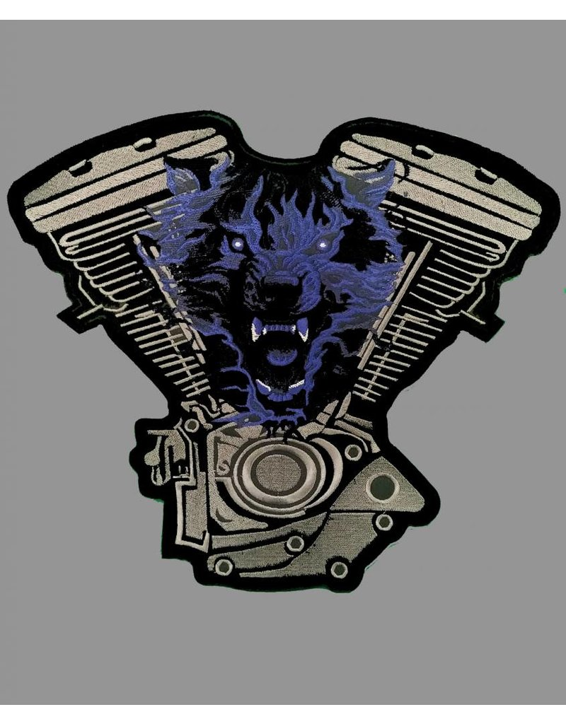 Badgeboy Engine and Wolf patch Blue 25 cm