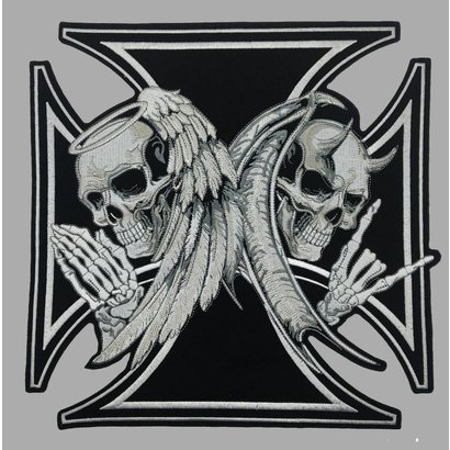 Badgeboy Iron Cross Angel and Devil 30 cm