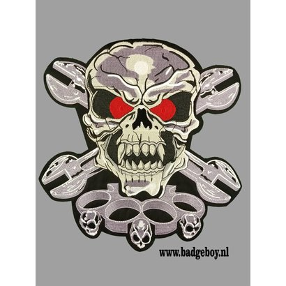 Badgeboy Skull and Knuckels patch