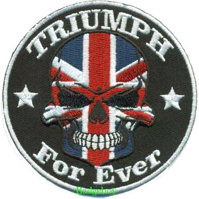 Badgeboy Triumph Skull patch