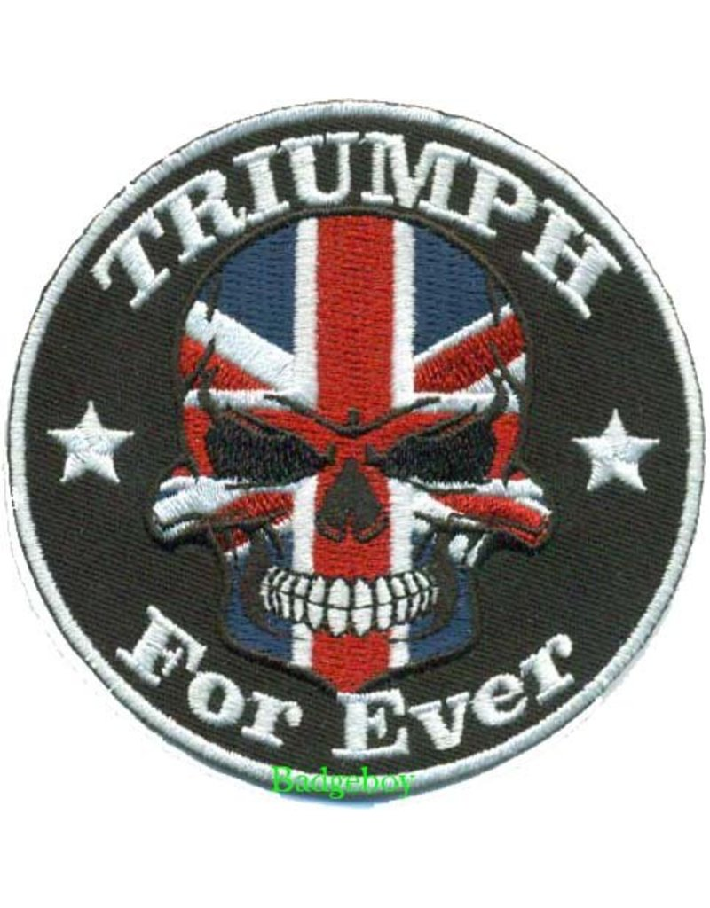 Badgeboy Triumph Skull patch