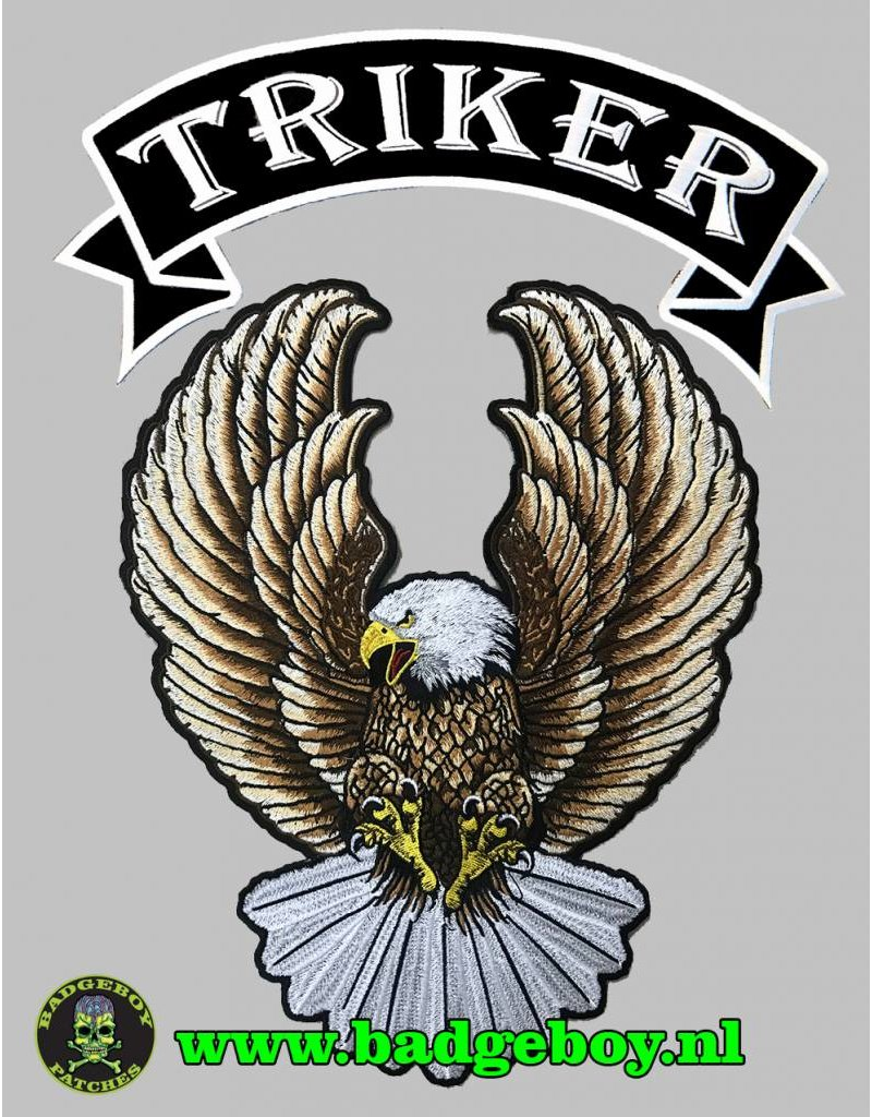 Badgeboy Triker banner and Eagle nr 172 E and nr 447 E