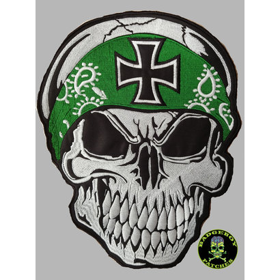 Badgeboy Skull with Bandana green large 30 cm