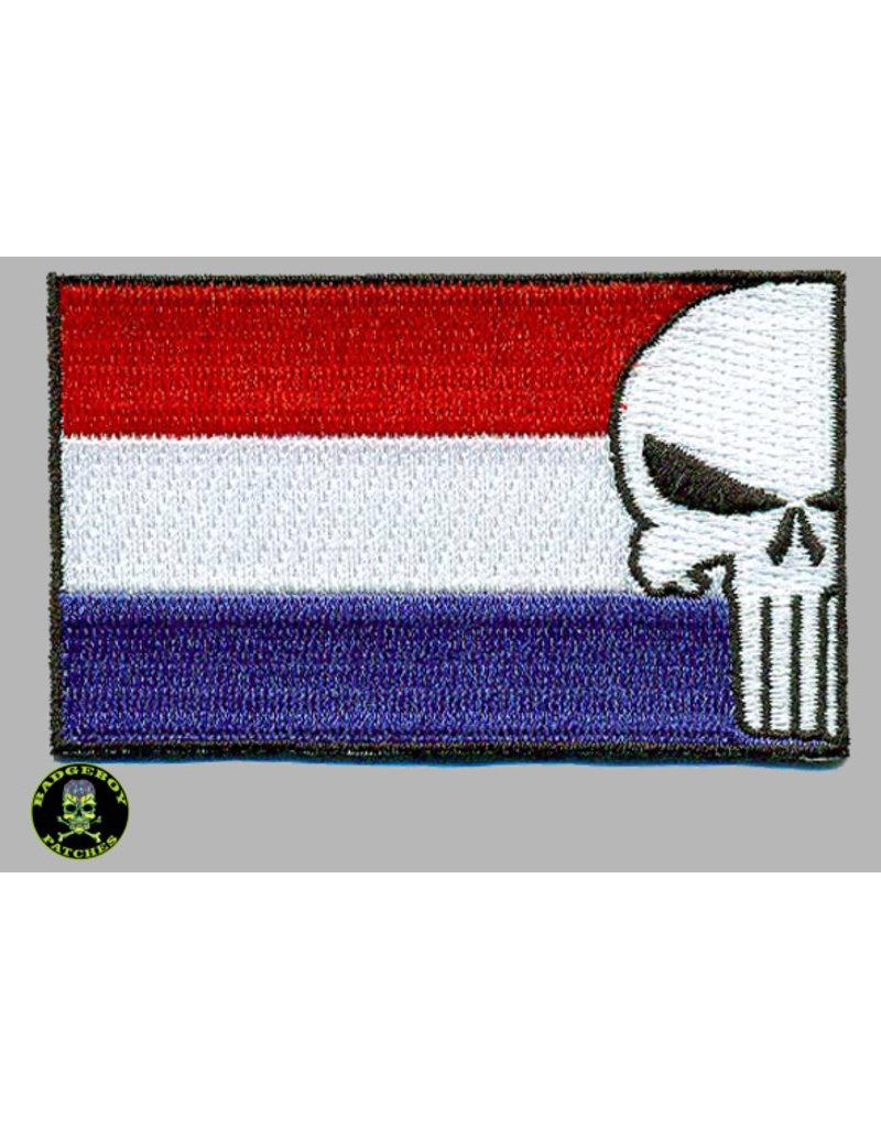 Badgeboy Dutch Flag Punisher 8 cm