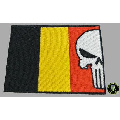Badgeboy Belgium Flag Punisher 8 cm patch