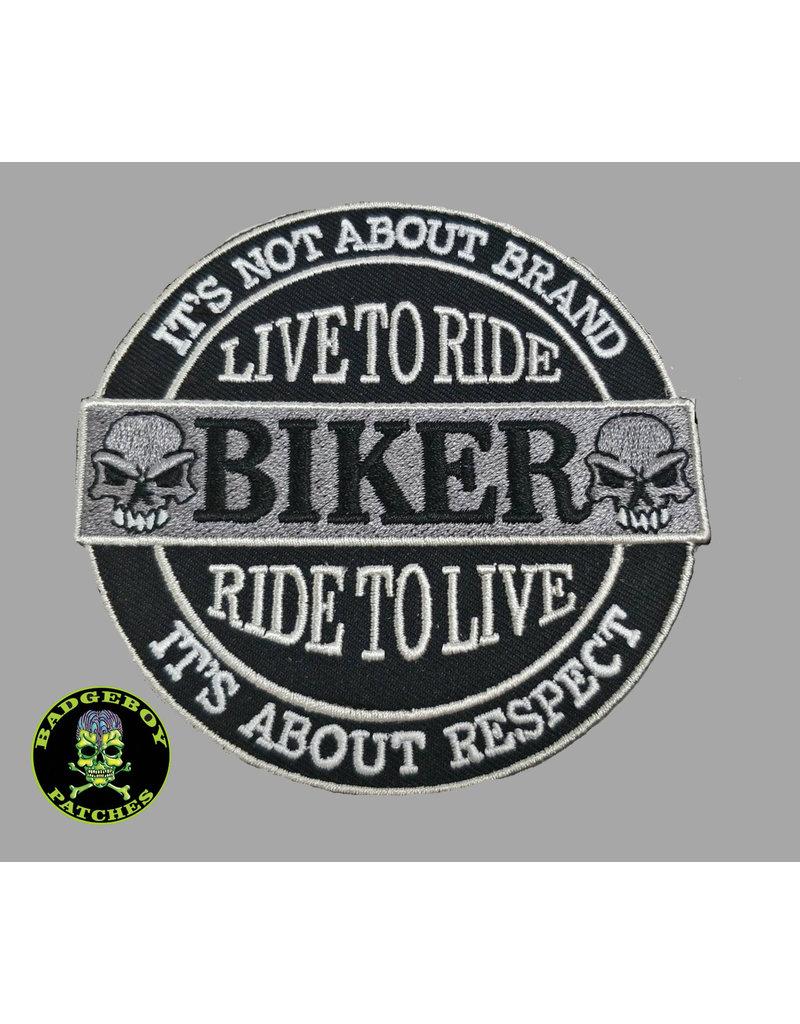 Badgeboy It is not the Brand Biker