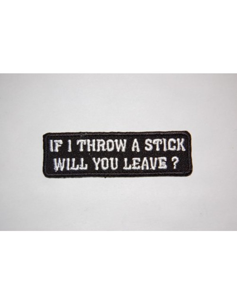 If I trow a stick will you leave Nr. 374 E