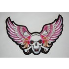 Lady skull and wings
