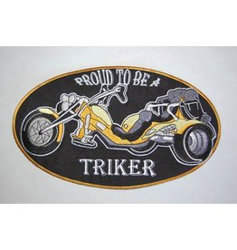 Badgeboy Proud to be a triker yellow large