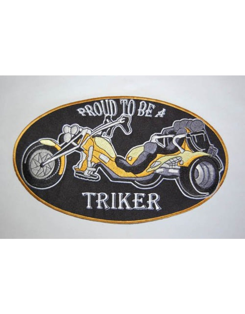 Badgeboy Proud to be a triker yellow large Nr. 424 E