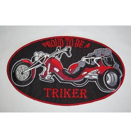Badgeboy Proud to be a triker red large