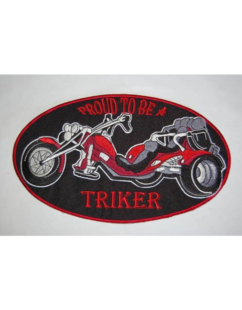 Proud to be a triker red large Nr. 423 E