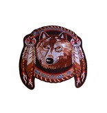 Badgeboy Dreamcatcher Wolf with feathers Nr. 434 E