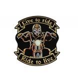 Badgeboy Live to ride biker large 608 E