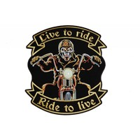 Live to ride biker small