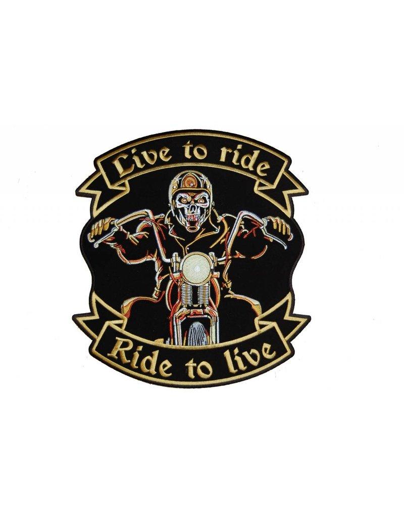 Live to ride biker small 610 E