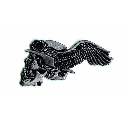 German skull winged left 9e
