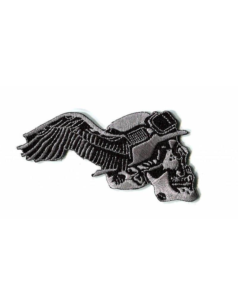 German skull winged right 12 E