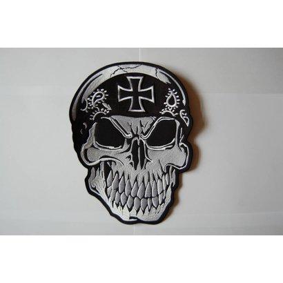 Skull with bandana black cross 496 R