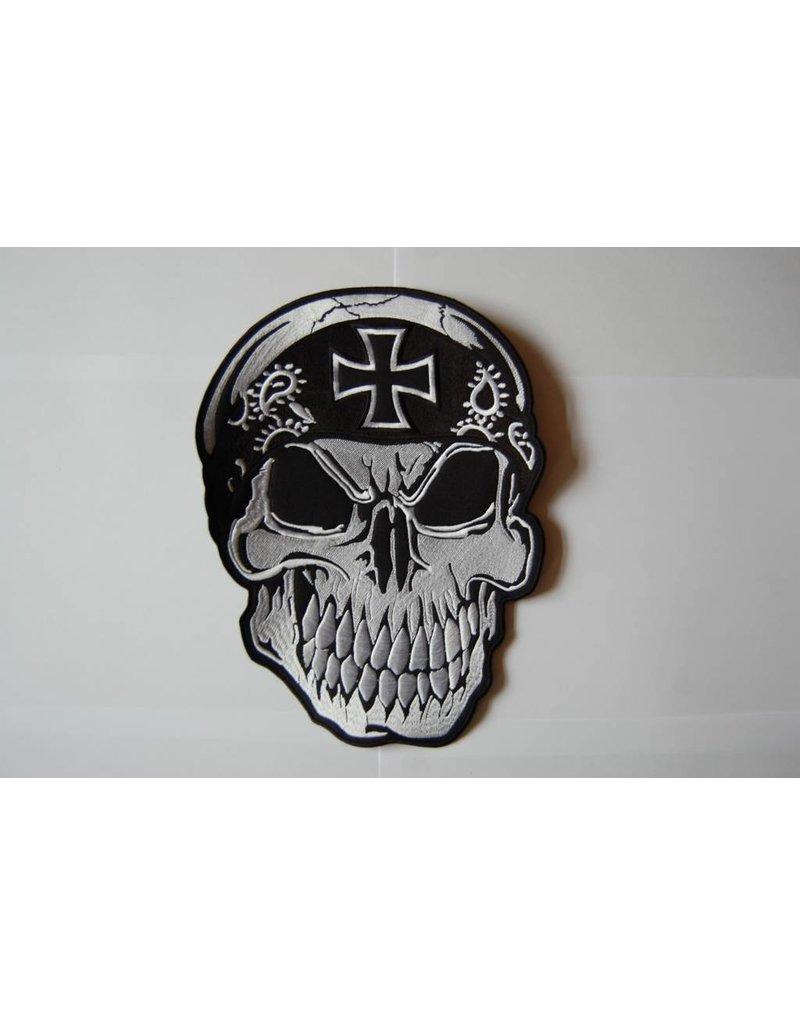 badgeboy Skull with bandana black cross 496 R