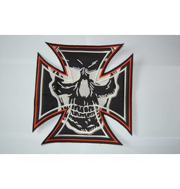 Badgeboy Maltezer cross orange with skull