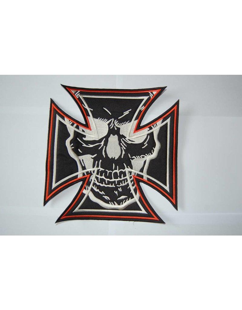 Maltezer cross orange with skull 493 R