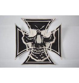 Badgeboy Maltezer cross black with skull