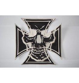 Maltezer cross black with skull